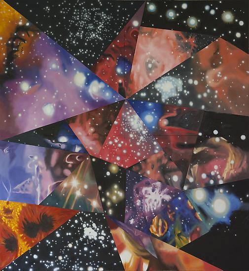 ames Rosenquist, Multiverse You Are, I Am, 2012, oil on canvas, 132 x 120 inches