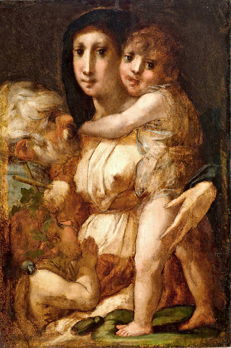 Rosso Fiorentino, Holy Family with the Young Saint John the Baptist, c. 1520, oi