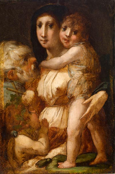 Rosso Fiorentino, Holy Family with the Young Saint John the Baptist, ca. 1520 (T