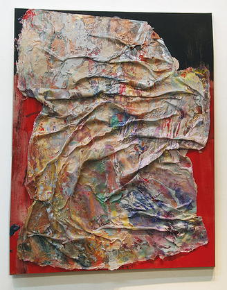Susan Roth, Yoga Sutra, 2002, acrylic and acrylic skin on canvas, 71 x 55 inches