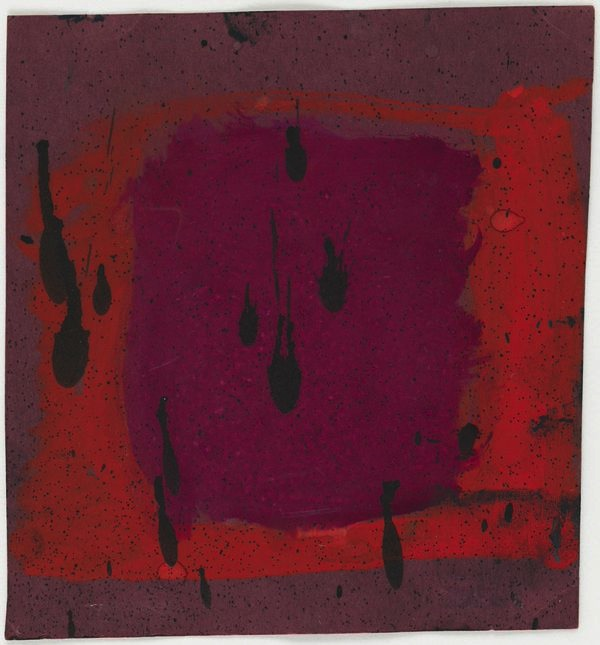 Mark Rothko, Untitled (Study for Harvard Mural) (verso), c. 1961, opaque waterco
