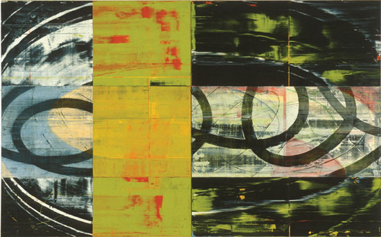 David Row, Wind Cools Itself, 1996, oil on canvas, 90 x 144 inches (courtesy of