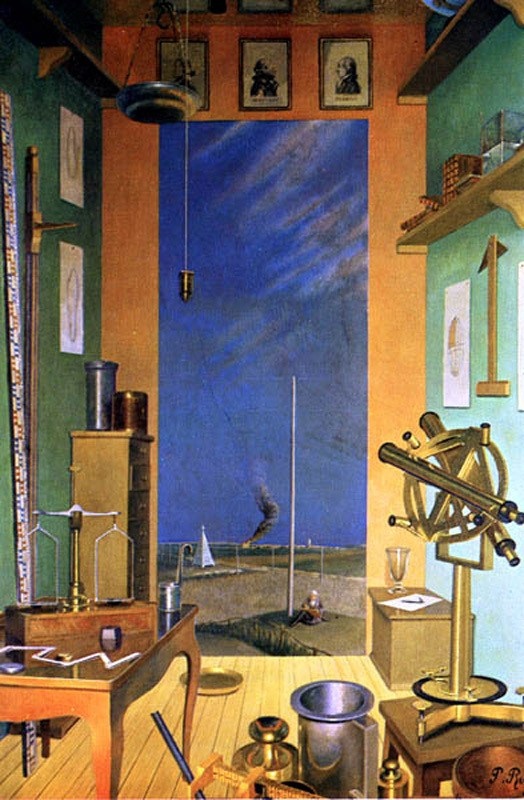 Pierre Roy, Metric System, 1933, oil on canvas, 57 5/8 x 39 inches (Philadelphia Museum of Art)
