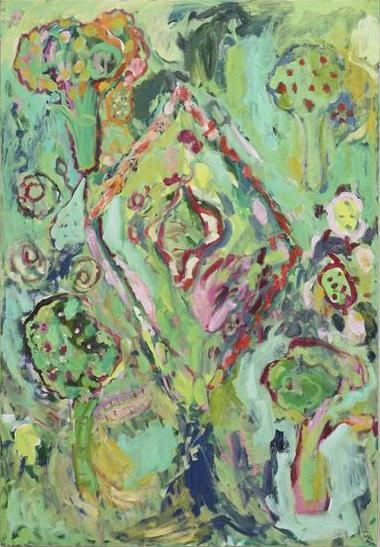 Painting by Adrianne Rubenstein (courtesy of White Columns)