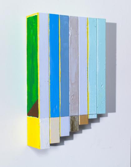 Cordy Ryman, Pantastic, 2013, acrylic and enamel on wood, 17 x 10 x 4 inches (co