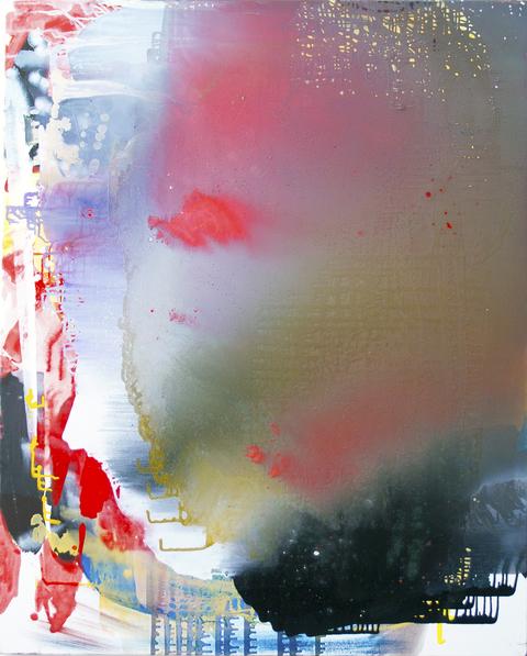 Jackie Saccoccio, Portrait (Cyclops), 2013, oil and mica on linen, 146 x 114 cm