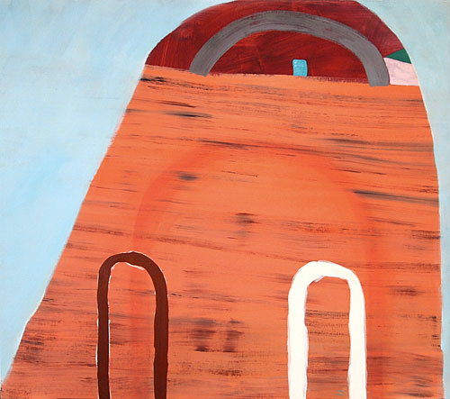Sara Bright, Arches, 2011, oil on linen on panel, 48 x 54 inches (courtesy: Geor