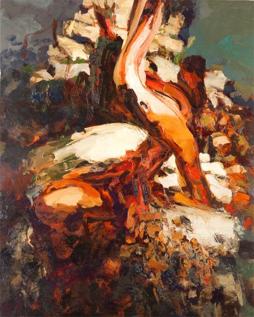 Dana Saulnier, Stack Series One, oil on canvas, 70 x 56 inches, 2013 (courtesy o