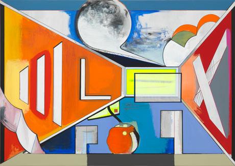 Thomas Scheibitz, Studio, 2012, 270 x 380 cm, 2012 (photograph: Jens Ziehe/Court
