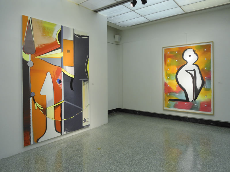 Installation view with works by Thomas Scheibitz, Geist und Form: Ten Painters f