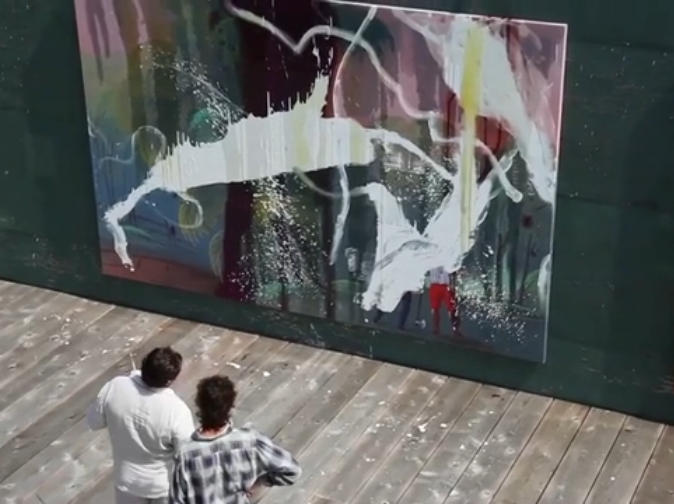 Julian Schnabel Outdoor Studio, Film Still, In the Course of Seven Days (Porfiri