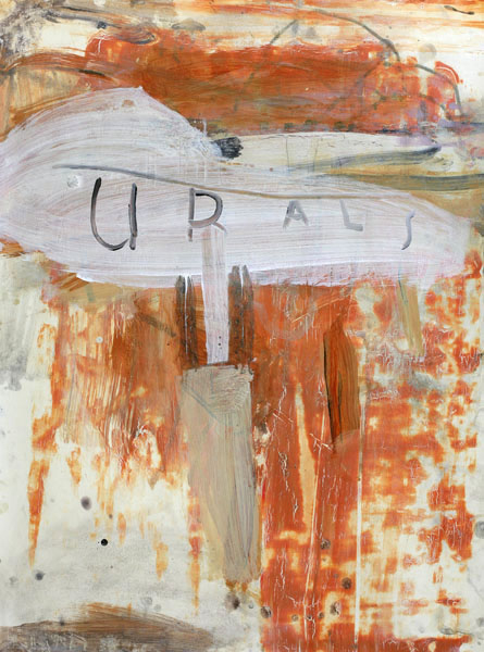 Ward Schumaker, The Urals (mixed media on paper on wood) 30 x 22 inches, 2009-20