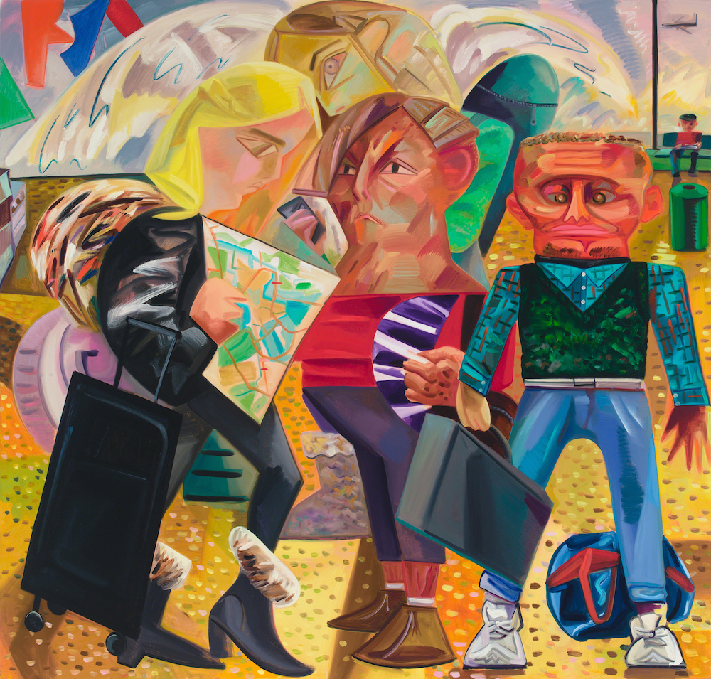 Dana Schutz, Swiss Family Traveling, 2015, oil on canvas (courtesy of Petzel Gal