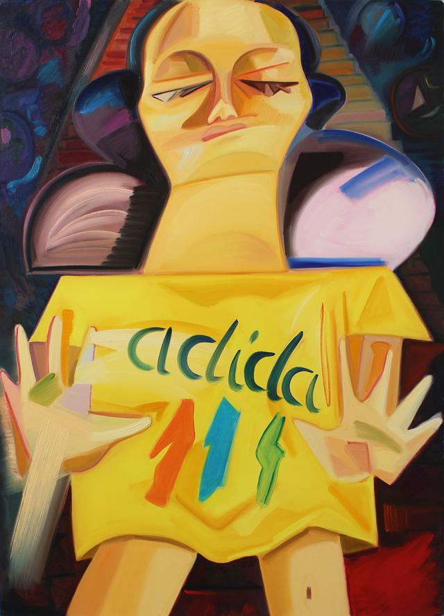 Dana Schutz, Sleepwalker, 2015, oil on canvas, 66 x 47.25 inches (courtesy of the artist)