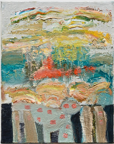 Julia Schwartz, dream of the boardwalk, 2012, oil on linen, 14 x 11 inches (cour