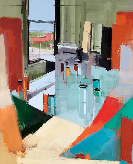 Peri Schwartz, Studio XXXIV, 2013, 54 x 44 inches, oil on canvas (courtesy of th