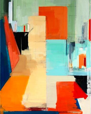 Peri Schwartz, Studio XXX, oil on canvas, 2013 (courtesy of the artist and Perim