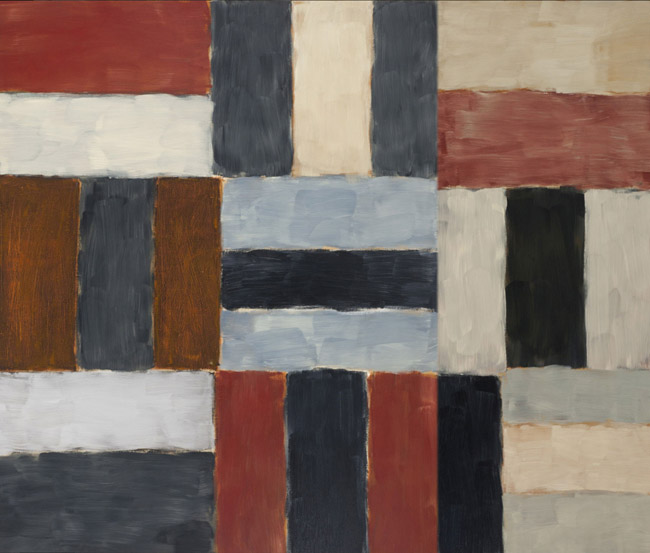 Sean Scully, Chelsea Wall #1, 1999, oil on canvas 110 x 132 inches (279 x 336 cm