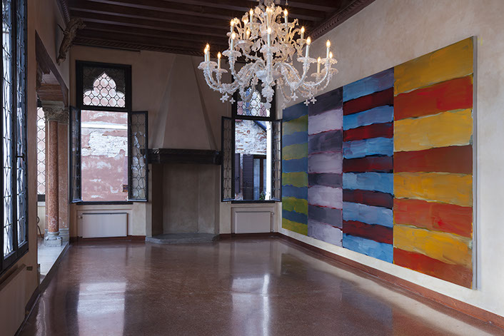 Installation View: Sean Scully: Land Sea curated by Danilo Eccher at Palazzo Fal