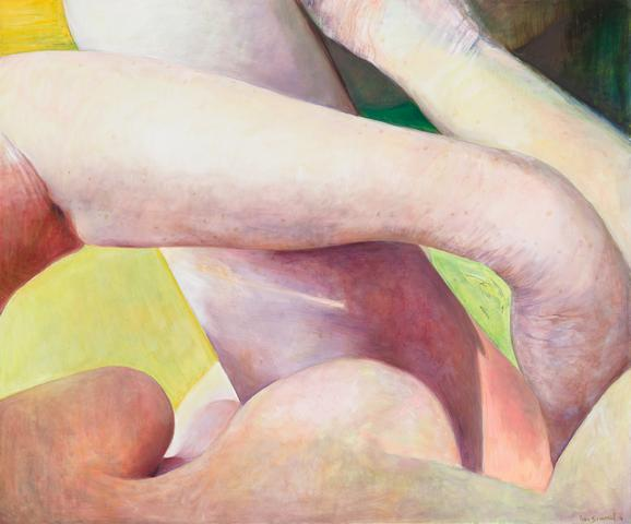 Joan Semmel, Crossed Limbs, 2016, oil on canvas, 60 x 72 inches (courtesy of Alexander Gray Associates)