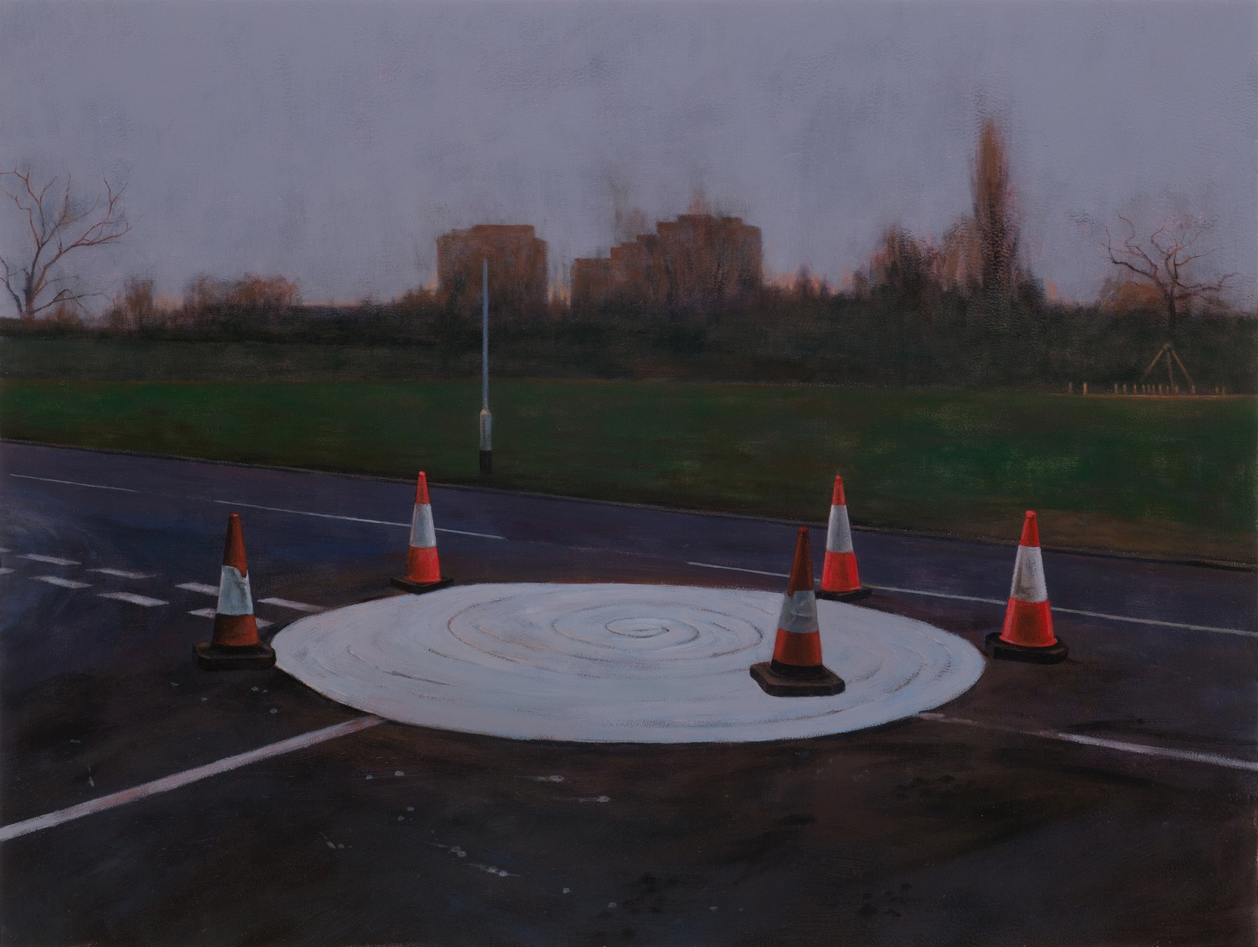 George Shaw, Somewhere in the Midlands, 2014 (Photo: © the artist, courtesy Wilk