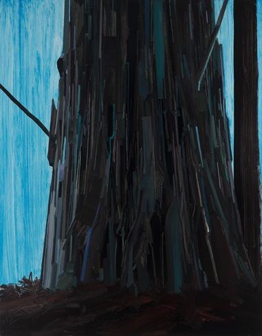 Claire Sherman, Tree, 2013, 7 x 5 1/2 feet, oil on canvas (courtesy of the artis