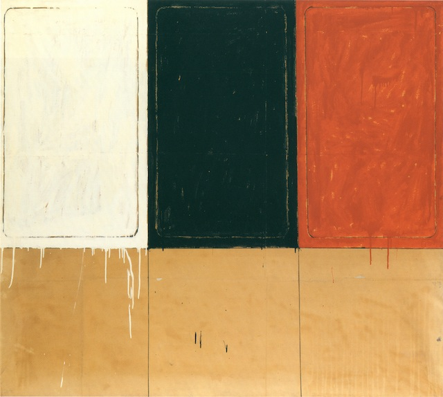 Mario Schifano, La stanza dei Disegni, 1962, enamel paint and charcoal on paper