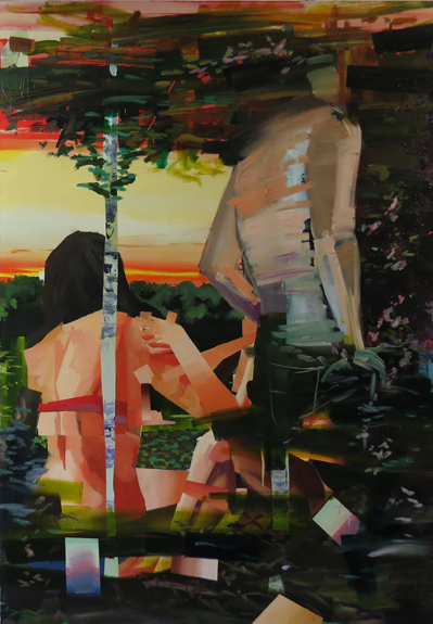 Russell Shoemaker, Clearing, oil on canvas, 39 x 56 inches, 2012 (courtesy of th