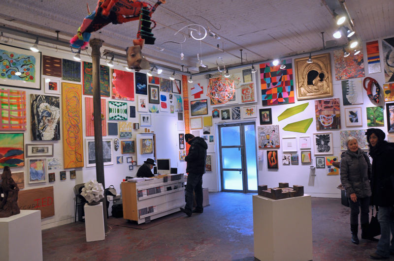 Installation View: MIC: CHECK (The: human mic) (OCCUPY) at Sideshow Gallery (pho
