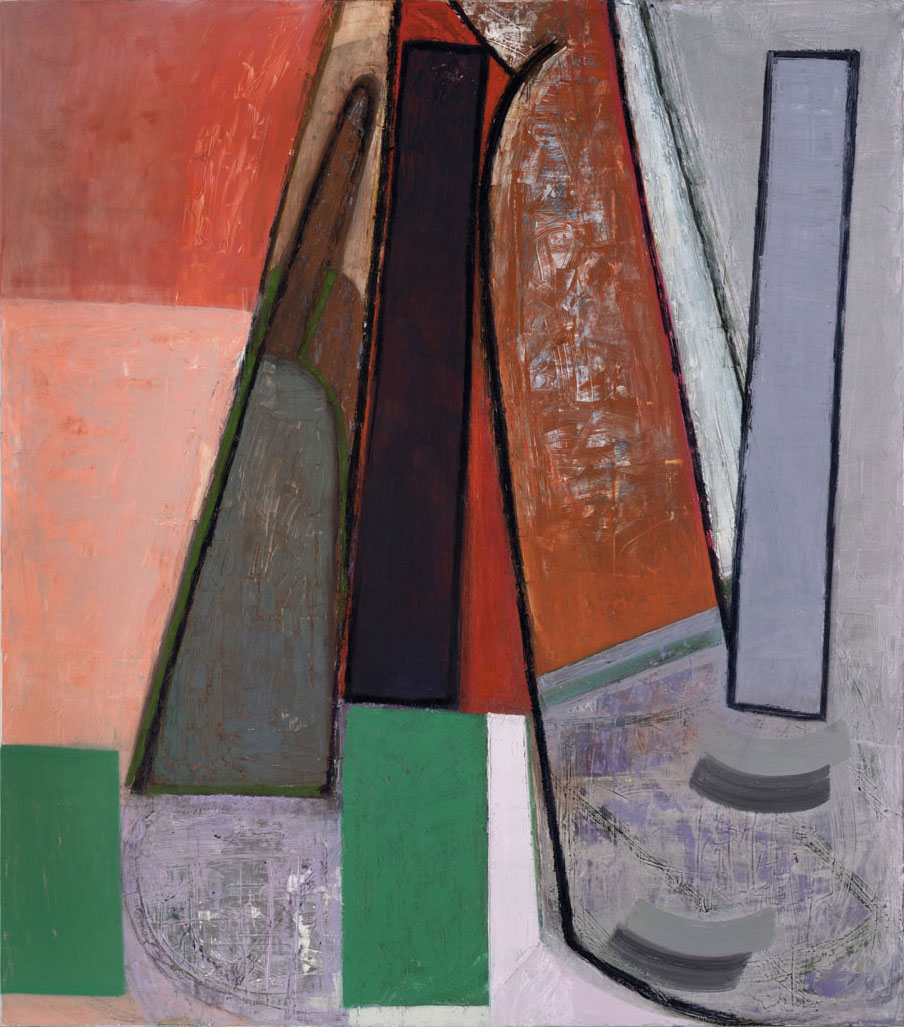 Amy Sillman, Finger x 2, 2015, oil on canvas, 75 x 66 inches (courtesy of Sikkem