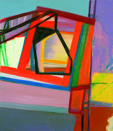 Amy Sillman, C, 2007, oil on canvas, 45 x 39 inches (collection of Gary and Debo