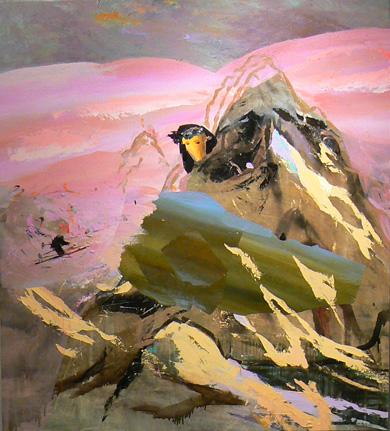 Judith Simonian, 2010, Moving Mt. Ararat, acrylic on canvas, 64 x 58 inches (cou