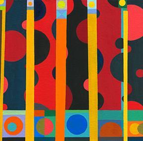 Nicholas Sistler, Composition #4 2013, gouache on board, 4 x 4 inches (courtesy