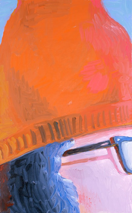 Elena Sisto, Hat, 2013, 28 x 17 inches, oil on canvas (courtesy of the artist an