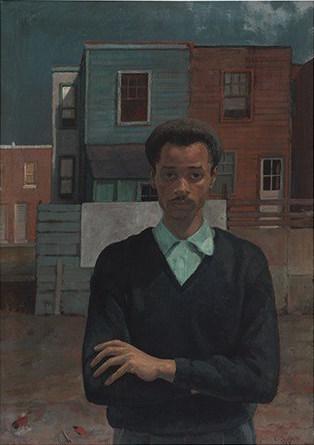 Louis Sloan, Self Portrait, 1956, oil on canvas, 41.5 x 29.5 inches