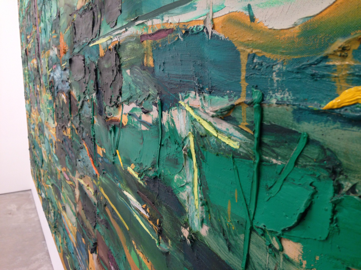 (detail) Joan Snyder, Beanfield with Music, 1984, oil and acrylic on canvas, 72