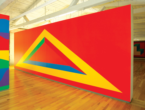 Sol LeWitt, Wall Drawing 1005 installed at MASS MoCA (photo courtesy of MASS MoC