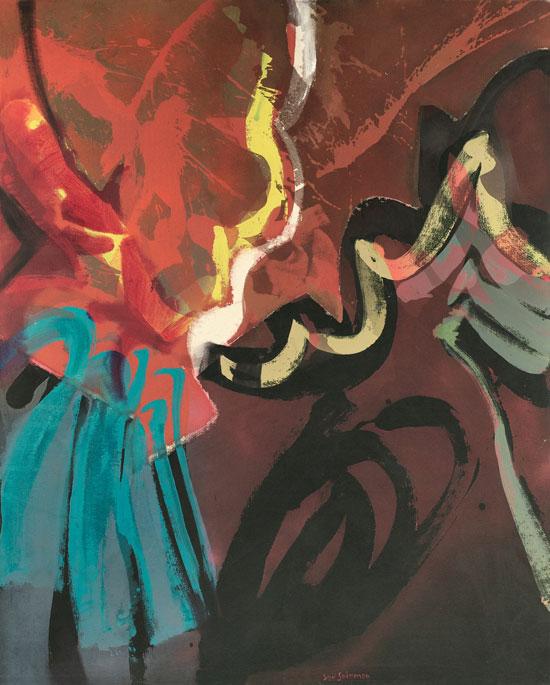 Syd Solomon, Lure of Westlight, 1977, acrylic and aerosol enamel on canvas, 60 x