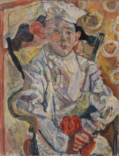 Chaim Soutine, The Pastry Chef (Baker Boy) (Le Pâtissier), c. 1919, oil on canvas, 26 x 20 1/16 inches (© 2014 Artists Rights Society (ARS), New York / ADAGP, Paris  Image © 2017 The Barnes Foundation)