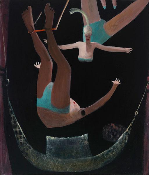 Kyle Staver, Trapeze, 2012, oil on canvas, 68 x 58 inches (courtesy of John Davi