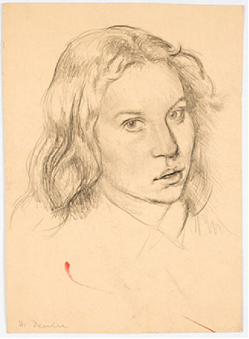 Leo Steinberg, Untitled, 41, Deirdre, graphite on paper, 12-7/8 inches x 9¼ inch