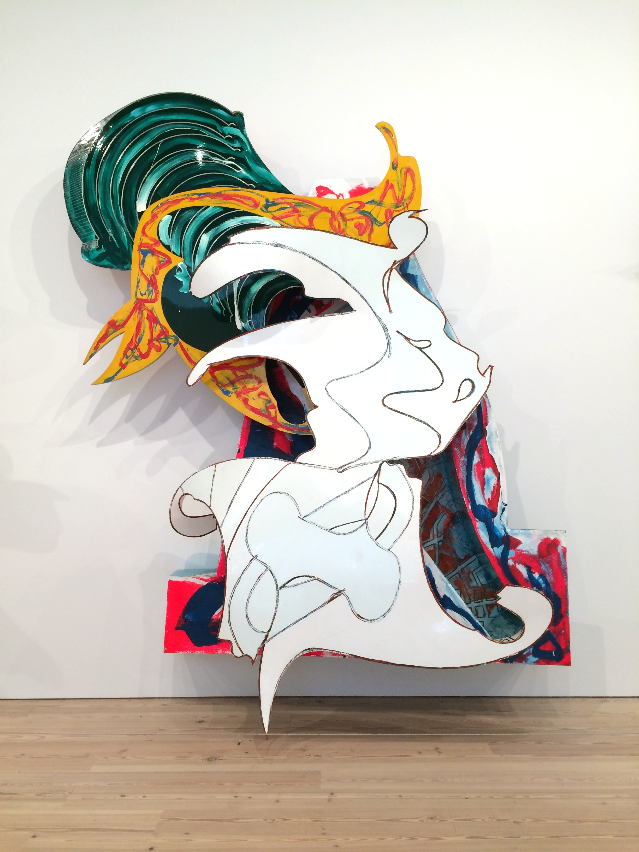 Frank Stella, The Whiteness of the Whale, 1987, paint on aluminum, 149 × 121 3/4