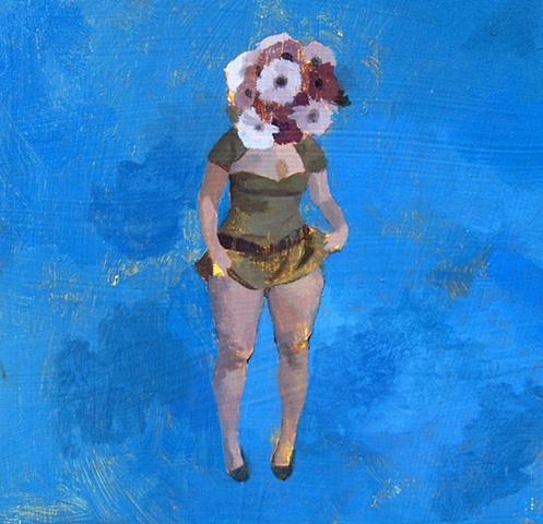 Sterling Shaw, Hendrickje, 2011, Acrylic on panel, 12 x 12 inches