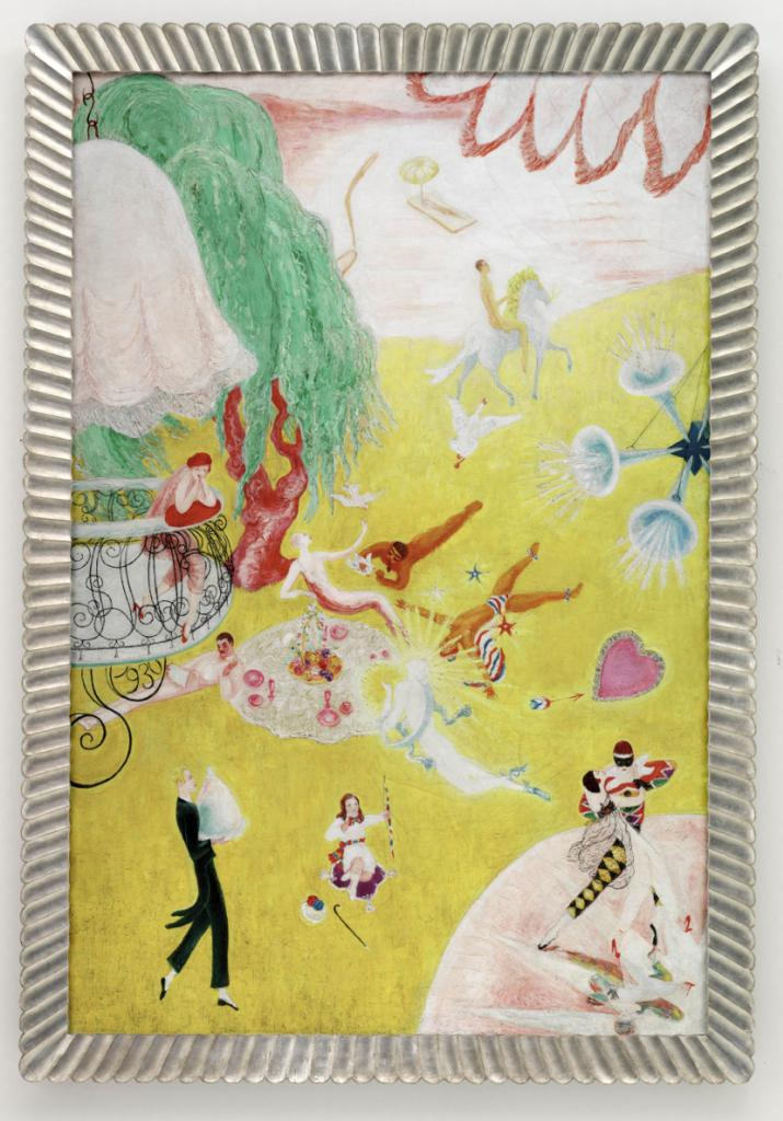 Florine Stettheimer, Love Flight of a Pink Candy Heart, 1930 (courtesy the Detro