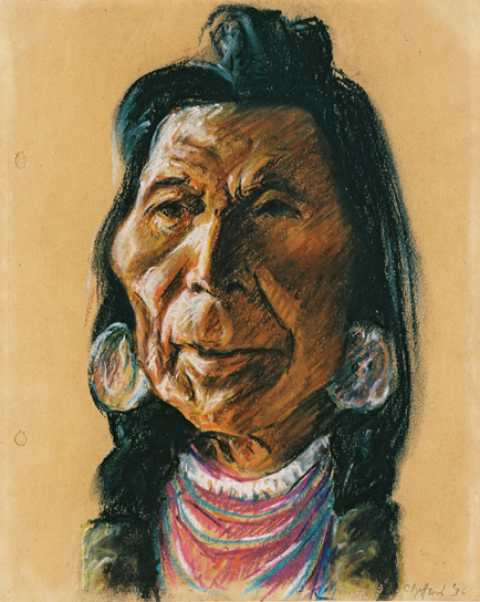 Clyfford Still, PP-241, 1936, one of Still's drawings of native peoples on the C