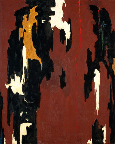 Clyfford Still, PH-945, 1946, oil on canvas, 53.5 x 43 inches (courtesy of the C
