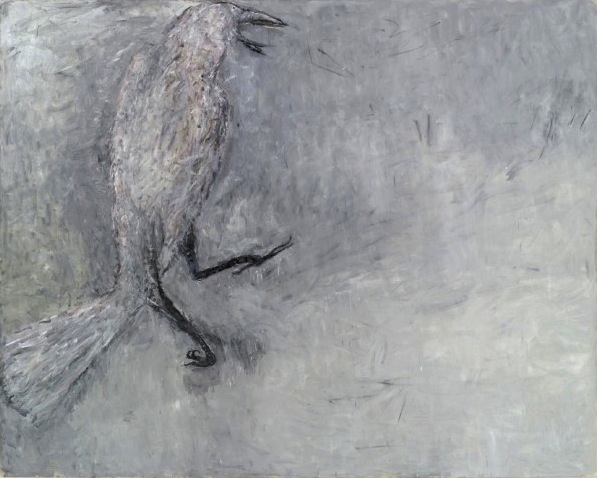 Susan Rothenberg,  White Raven, 2011  oil on canvas,  92 x 115 5/8 inches (court