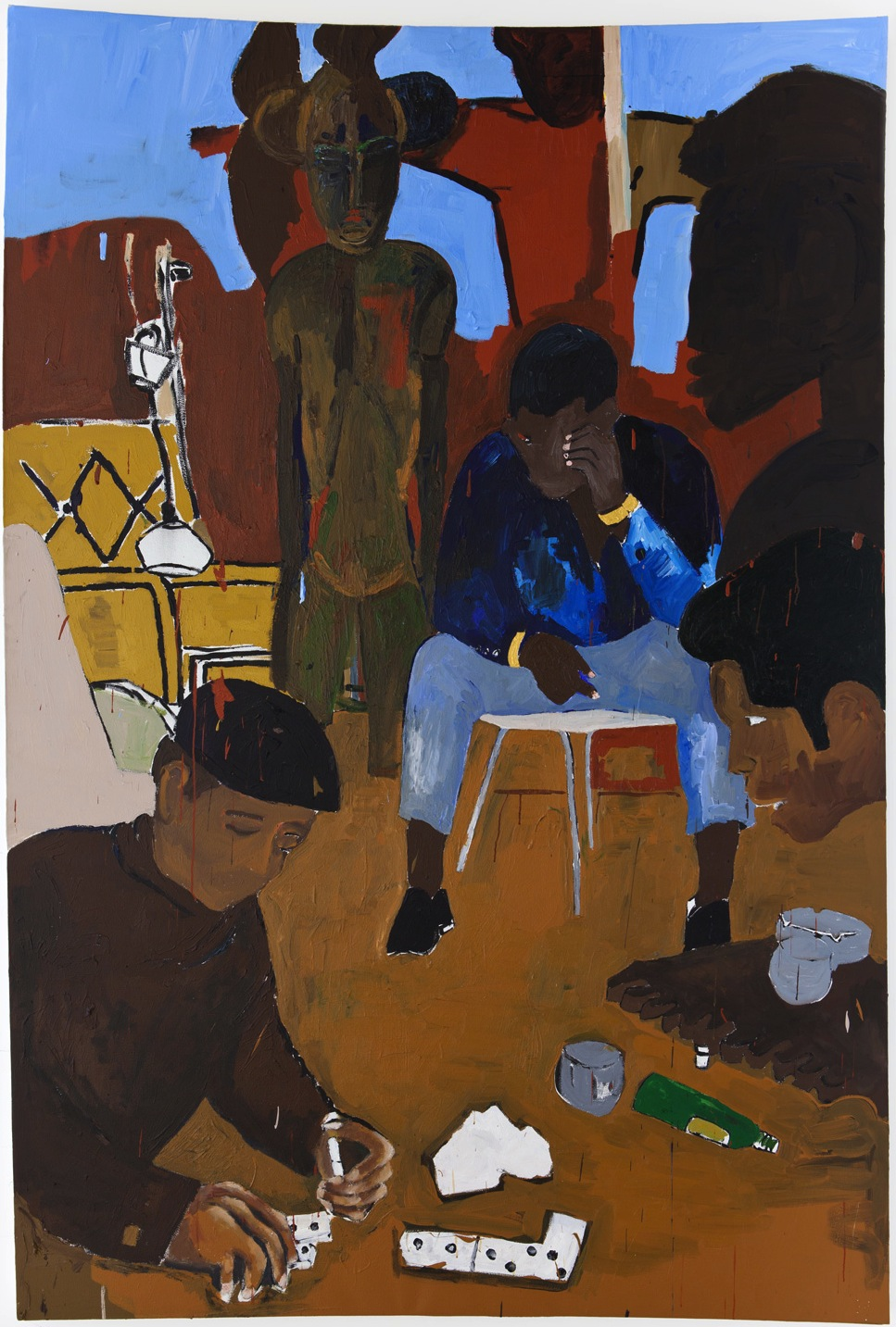 Henry Taylor, Not Alone, 2013, acrylic on canvas, 115 x 76 1/2 x 2 1/2 inches (c
