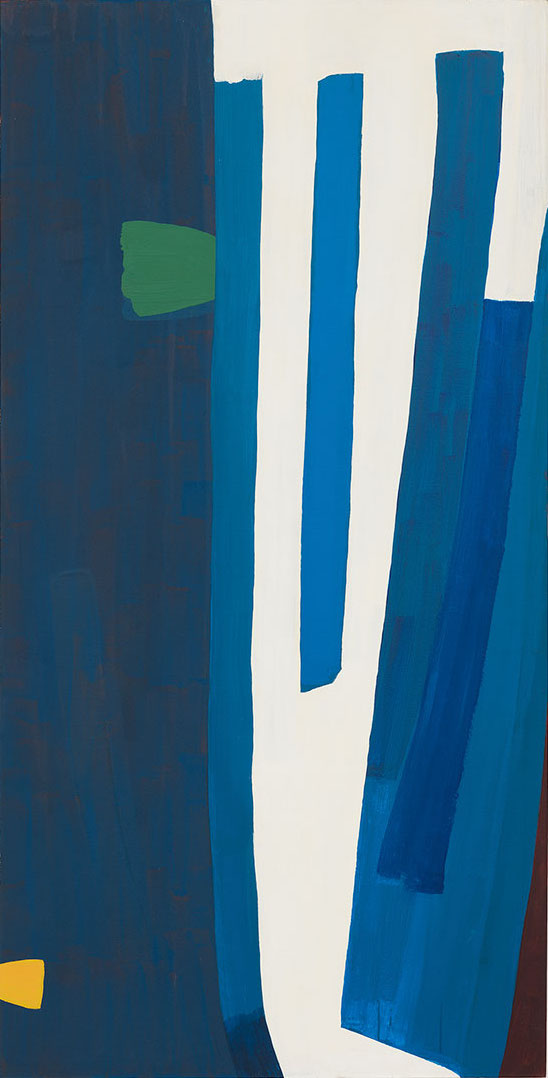 Al Taylor, Mendoza, 1980 Acrylic and oil on canvas 82 3/4 x 42 inches (© 2017 The Estate of Al Taylor, courtesy David Zwirner, New York/London)