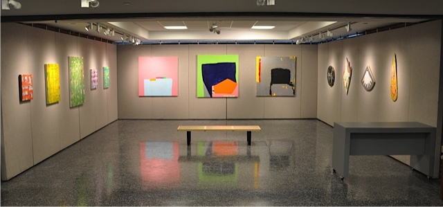 Installation View: Temporal Shifts (l to r) Anne Russinof, Paul Behnke, Craig Ol
